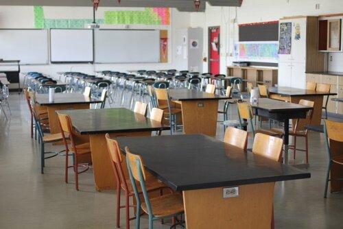 Empty Chemistry classroom